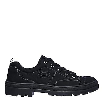 Skechers Dame Roadies Total Colour Sko Lærred Lav Top Trainers Sneakers