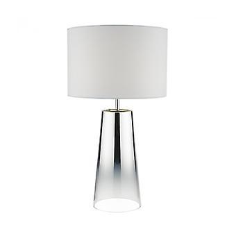 Smokey Glass Und poliert Chrome 1-Licht Tischleuchte