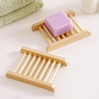 Natural Bamboo Wood-portable Soap Dish Tray