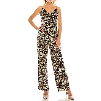 Printed Jumpsuit With Gold Chain Straps