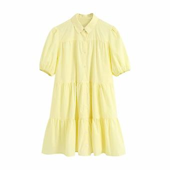 Kobiety Słodka Moda Potargane Mini Sukienka
