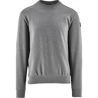 Paul & Shark Grey Summer Cotton Fleece Crew Neck Sweatshirt