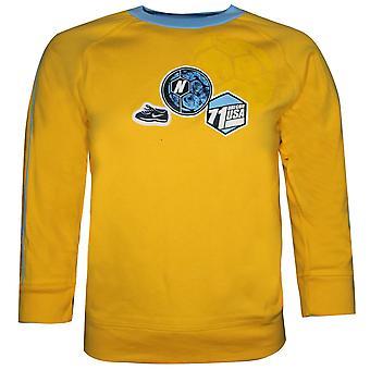 Nike Young Boys Oregon USA Sports Top T-Shirt Casual Yellow 490413 703