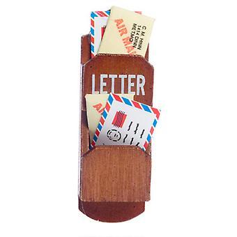 Puppen Haus Holz Wand Brief Mail Halter Miniatur Küche Halle Zubehör 01:12