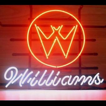 Williams Pinball Glass Neon Light Sign Beer Bar