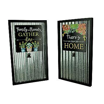 Farmhouse Garden Set of 2 Rustic Sentiments Hanging Memo Boards