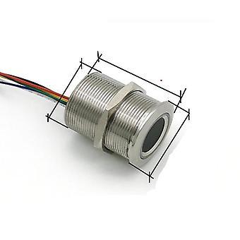 Rotondo circolare, anello bicolore, controllo led indicatore, sensore impronte digitali,
