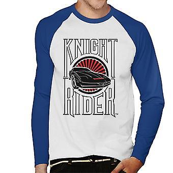 Knight Rider Text och logo Män's Baseball Långärmad T-shirt