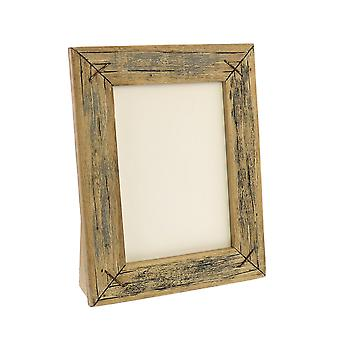 5 X 7 Vertical Frame With Textured Details, Brown