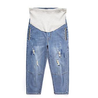جينز الحوامل، الأمومة بنطلونات الحمل الحجم الكبير ارتداء / ملابس، قابل للتعديل