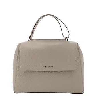 Orciani Bt2006softconchiglia Women's Beige Leather Handbag