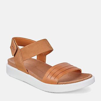 Flowt 273603 51323 lion cashmere - ecco ladies beige soft leather sandals with velcro fastening
