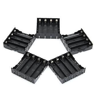 5PCS High Strength Battery Plastic Case Holder for 4x3.7V 18650 Li-ion batteries