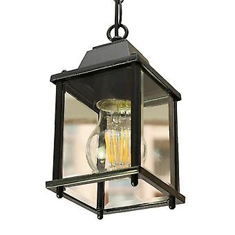 Ceiling Pendant Light With Clear Glass Shade For Exterior Entryway Porch