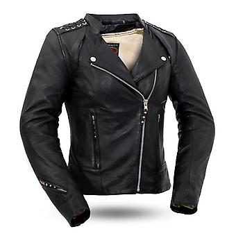Mkl - bicey women's motorcycle leather jacket