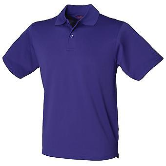 Henbury Mens Piqué Polo Camisa