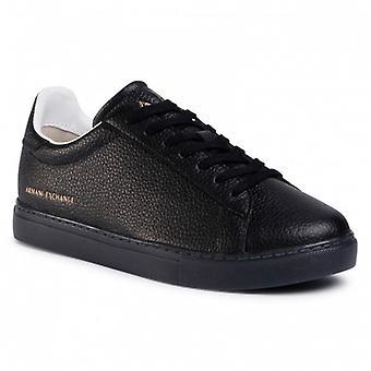 Men's Sneakers Armani Exchange Leather Black Color U21ax02
