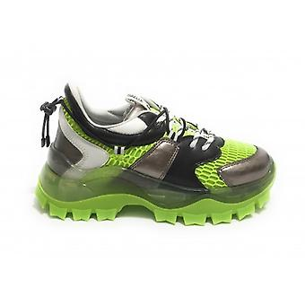 Women's Shoes Gaëlle Chunky Sneakers With Acid Green Wedge/ D21ge04 Rifle Barrel