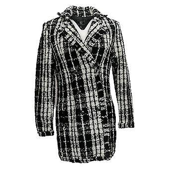 G By Giuliana Women's Novelty Jacket Button Front Black 722-481