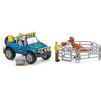 Geländewagen Schleich mit Dino-Außenposten