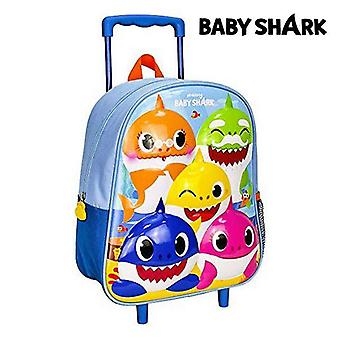 3D school bag with wheels baby shark (26 x 31 x 10 cm)