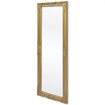 Wall Mirror Baroque Style 140x50 Cm Gold