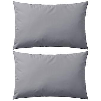 vidaXL garden cushion 2 pcs. 60 x 40 cm grey