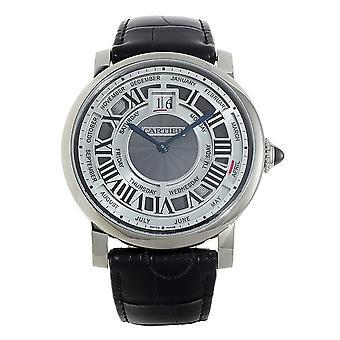 Cartier Rotonde de Cartier Perpetual Calendar Automatic 18 kt White Gold Men's Watch W1580002