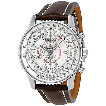 Breitling Montbrilliant Datora Silver Dial Chronograph Men's Watch A2133012-G518BRLD