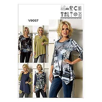 Vogue ompelu kuvio 9057 misses Pullover Top Size L-XXL Leikkaamaton Maaliskuu Tilton