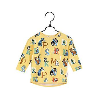 Mumin Alfabet-tröja baby gul, Martinex