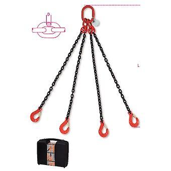 Beta 080940004 8094/4 C6 Chain Sling 4 Beine im Kunststoffkoffer 6mm 4 Meter