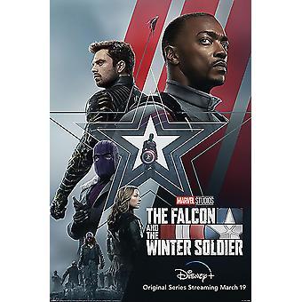 Falken og vinteren. Soldier Plakat Stjerner og Striber (Captain America) 91,5 x 61 cm
