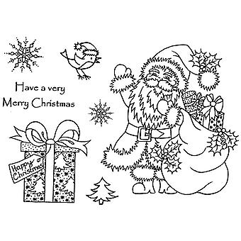 Personal Impressions Santa with Parcels Clear Stamp