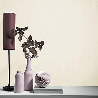 Elle Decoration Plain Textured Wallpaper Cream 1017137