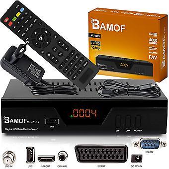 Bamof 2305 Digital Satelliten Sat Receiver - (HDTV, DVB-S/S2, HDMI, SCART, 2X USB 2.0, Full HD