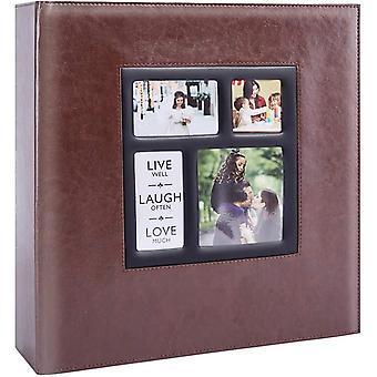 Gerui Photo Album 1000 Pockets 6x4 Photos, Extra Large Size Leather Cover Slip in Wedding Family