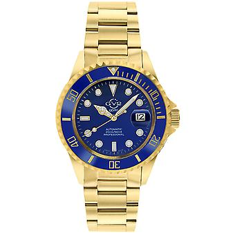 GV2 Men's Liguria Blue Dial Gold Bracelet Watch