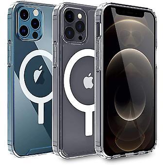 FengChun Transparente Phone 12 Pro Max Hülle mit integriertem Magneten für 6,7 Zoll 2020