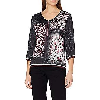 Paragraph CI 88.912.39.5659 T-Shirt, Multicolored (Grey/Black Placed Print 99d0), 50 Woman