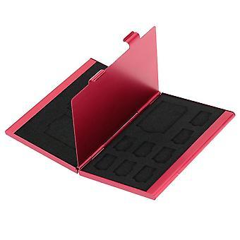 12 في 1 صندوق تخزين الألومنيوم محفظة حامل بطاقة الذاكرة