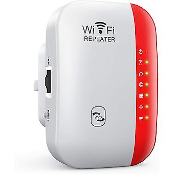 WiFi Extender Range Booster 300Mbps 2.4GHz WiFi Amplifier Booster Extender Modo Repetidor / Roteadores / AP LAN Interface WPS Protection Function-White