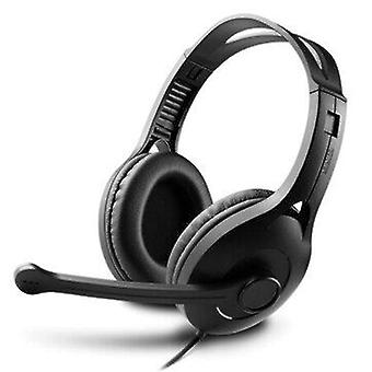 Edifier k800 usb plug adjustable headset student online lessons headphone stereo bass earphone with microphone for pc computer laptop