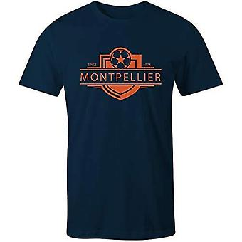 Sporting empire montpellier 1974 established badge kids football t-shirt