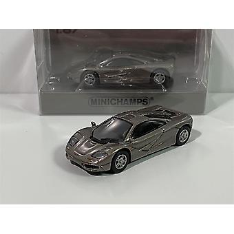 Minichamps 870133824 McLaren F1 Roadcar 1994 Grey Metallic 1:87 Scale