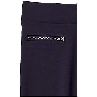 Daily Ritual Women's Ponte Knit Skinny-Fit Zip Pants, Navy, X-Large