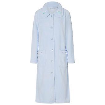 Slenderella HC8306 Women's Blue Robe Long Sleeve Dressing Gown