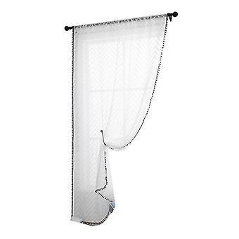 Valosuodatus- ja yksityisyysverhopaneeli, sauvatasku voile verhot makuuhuoneeseen (100cm * 130cm)