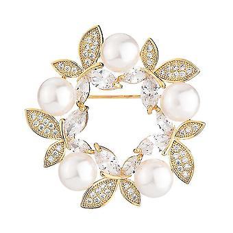 Exquisite Corsage Schmetterling Girlande Mädchen Brosche Zirkon eingelegt Brosche Pin