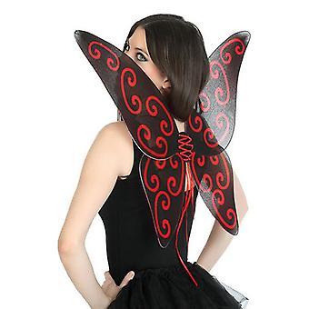 Ali farfalla 112742 rosso nero